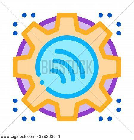 Repair Radio Signal Icon Vector. Repair Radio Signal Sign. Color Symbol Illustration