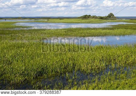 Rybinsk Reservoir On The Site Of Vesyegonsk - The Northernmost City Of The Tver Region,