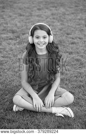 Educational Podcast. Kid Girl Enjoy Music Green Grass Meadow. Pleasant Time. My Summer Playlist. Lis