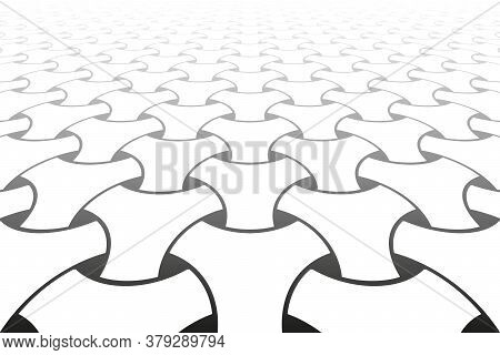 Abstract Geometric Op Art Pattern. Diminishing Perspective View. Vector Illustration.