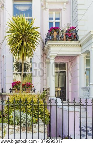 June 2020 London. Colourful Architecture In Notting Hill, London, England