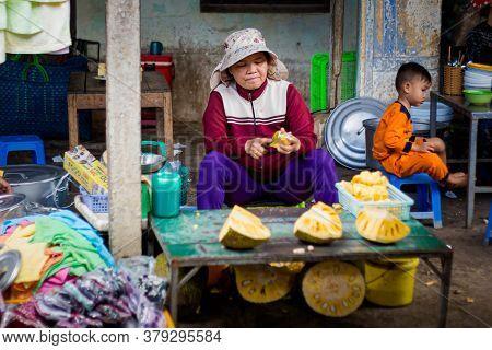 Fish Market Cho In Phan Rang, Vietnam