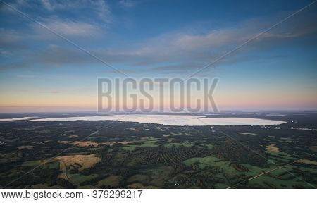Big Clean Lake Aerial View