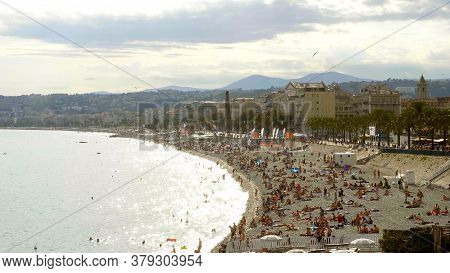 Beautiful Seafront Of Nice At The Cote D Azur - Nice, France - July 10, 2020