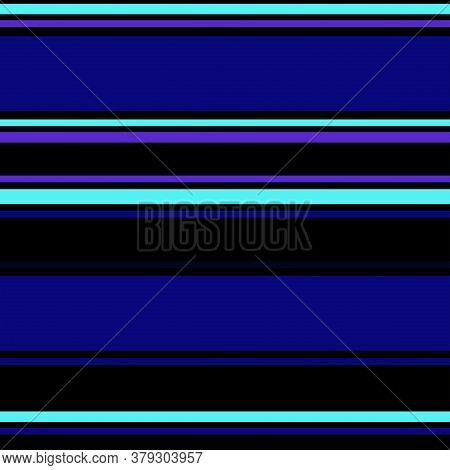 Sailor Stripes Seamless Pattern. Horizontal Lines Endless Design. Autumn Winter Modern Fashion Fabri
