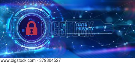 Cyber Security Data Protection Business Technology Privacy Concept. Data Privacy 3d Illustration