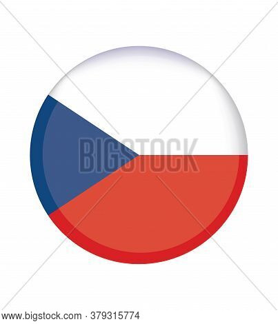 National Czech Republic Flag, Official Colors And Proportion Correctly. National Czech Republic  Fla