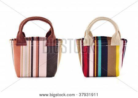 Fabric Bag On White Isolated Background