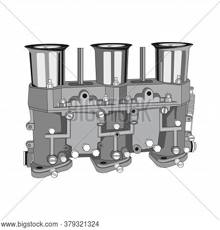 Carburetor Auto Part Isolated On A White Background