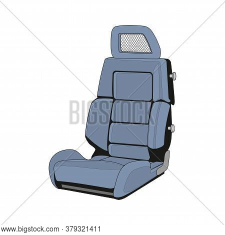 Isolated Car Seat On A White Background