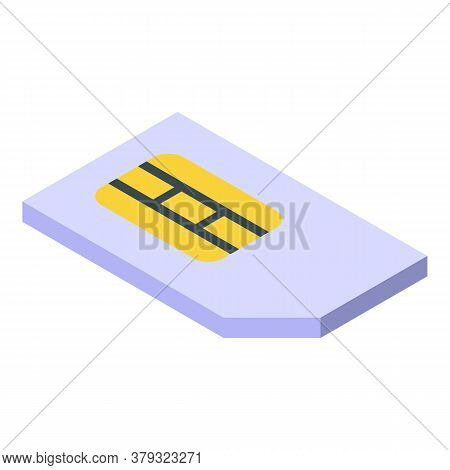 Personal Sim Card Icon. Isometric Of Personal Sim Card Vector Icon For Web Design Isolated On White