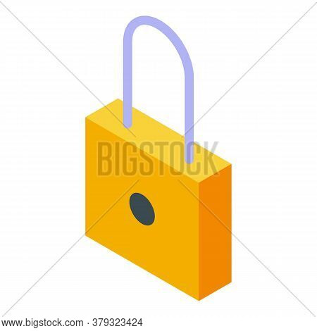 Personal Information Padlock Icon. Isometric Of Personal Information Padlock Vector Icon For Web Des