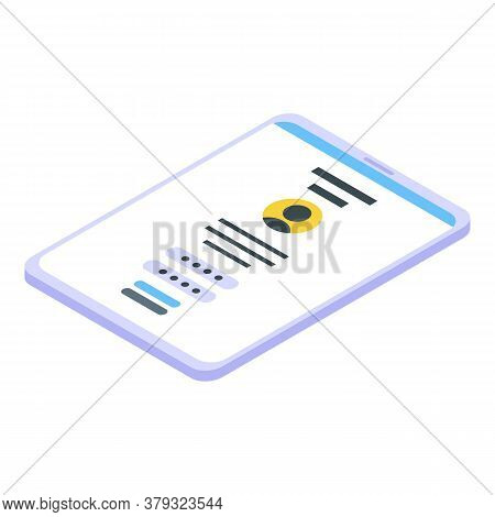 Login Password Authentication Icon. Isometric Of Login Password Authentication Vector Icon For Web D
