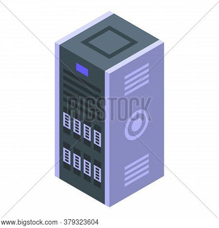 Authentication Server Icon. Isometric Of Authentication Server Vector Icon For Web Design Isolated O