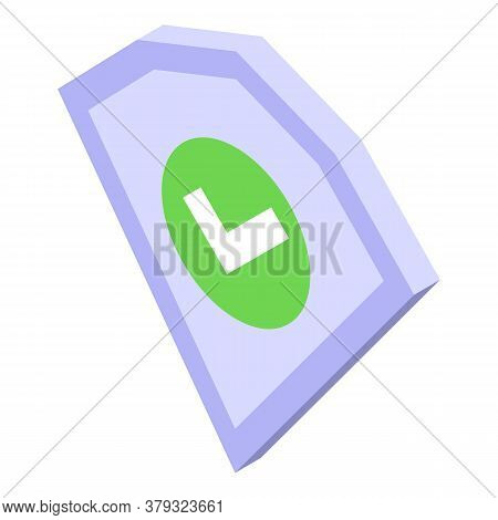 Secured Authentication Icon. Isometric Of Secured Authentication Vector Icon For Web Design Isolated