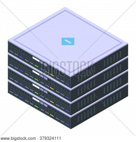 Server Remote Access Icon. Isometric Of Server Remote Access Vector Icon For Web Design Isolated On