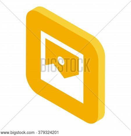 Picture Operating System Icon. Isometric Of Picture Operating System Vector Icon For Web Design Isol