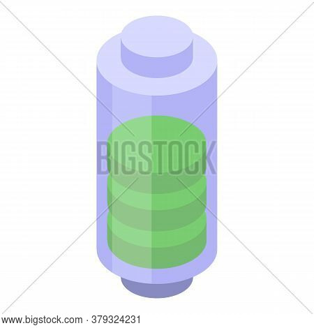 Battery Cycle Operating System Icon. Isometric Of Battery Cycle Operating System Vector Icon For Web