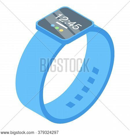 Smartwatch Operating System Icon. Isometric Of Smartwatch Operating System Vector Icon For Web Desig