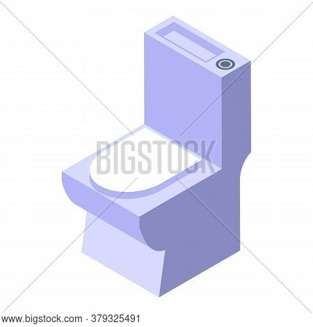 Toilet Icon. Isometric Of Toilet Vector Icon For Web Design Isolated On White Background