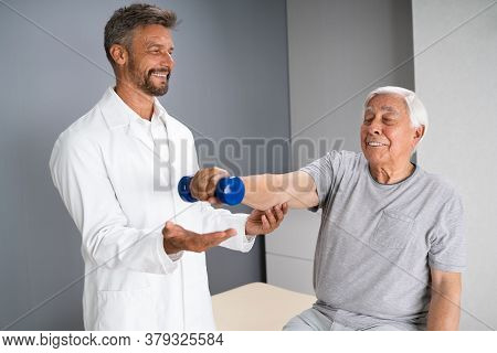 Physical Therapy Elderly Therapist In Physiotherapy Rehab Training