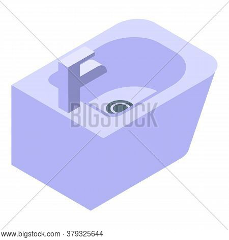 Domestic Bidet Icon. Isometric Of Domestic Bidet Vector Icon For Web Design Isolated On White Backgr