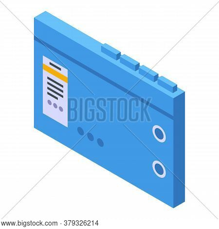 Storage Document Form Icon. Isometric Of Storage Document Form Vector Icon For Web Design Isolated O