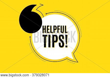Quote Banner With Text. Helpful Tips Symbol. Education Faq Sign. Help Assistance. Texting Quote Temp