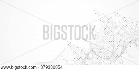 Abstract Background With High-tech Technology Texture Circuit Board Texture. Abstract Circuit Board
