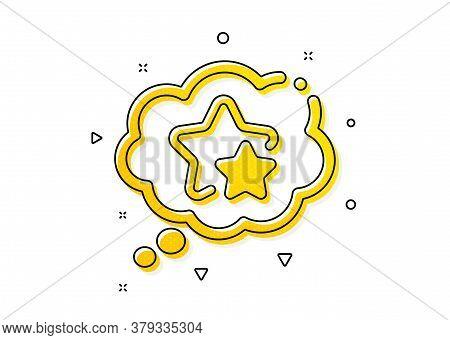 Star Rating Sign. Ranking Stars Speech Bubble Icon. Best Rank Symbol. Yellow Circles Pattern. Classi