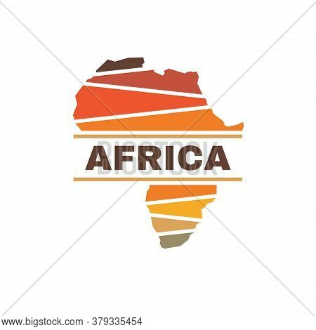 Africa Silhouette Concept Logo Design. African Continent Creative Logo Sign. Exotic Tourism Logo Sym