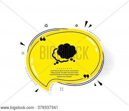 Comic Speech Bubble Icon. Quote Speech Bubble. Chat Sign. Social Media Message Symbol. Quotation Mar