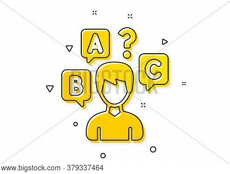Select Answer Sign. Quiz Test Icon. Business Interview Symbol. Yellow Circles Pattern. Classic Quiz