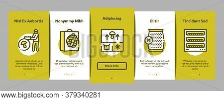 Mushroom Farm Plant Onboarding Mobile App Page Screen Vector. Mushroom Farm Agriculture Planting And
