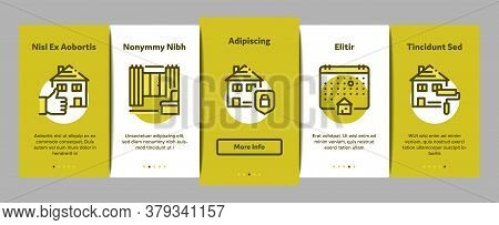 Apartment Building Onboarding Mobile App Page Screen Vector. Apartment Floor Plan Architectural Proj