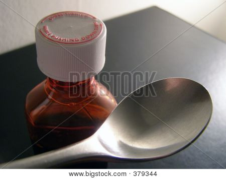 Medicine Bottle & Spoon