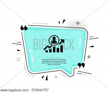 Business Results Icon. Quote Speech Bubble. Career Growth Chart Sign. Quotation Marks. Classic Caree