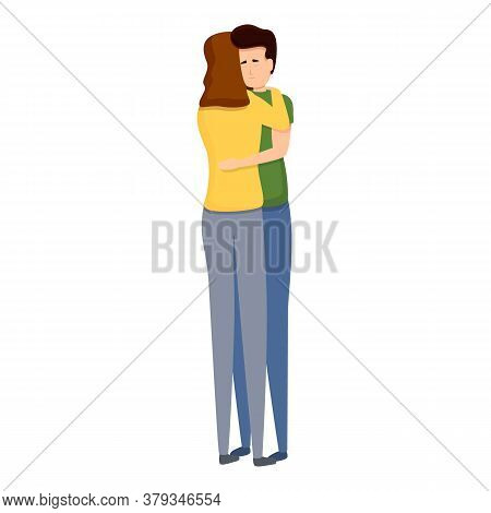 Affection Hug Icon. Cartoon Of Affection Hug Vector Icon For Web Design Isolated On White Background