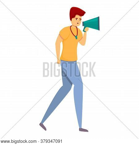 Megaphone Personal Trainer Icon. Cartoon Of Megaphone Personal Trainer Vector Icon For Web Design Is