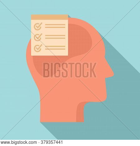 Checklist Neuromarketing Icon. Flat Illustration Of Checklist Neuromarketing Vector Icon For Web Des