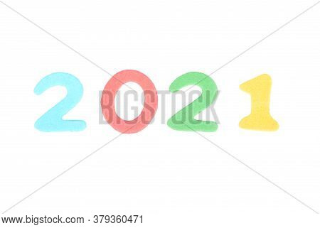 Colorful And Crisp Image Of Term From Colorful Letters On White Background