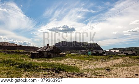 View Of Village Teriberka In The Barents Sea Coast. Kola Peninsula, Murmansk Oblast, Russia