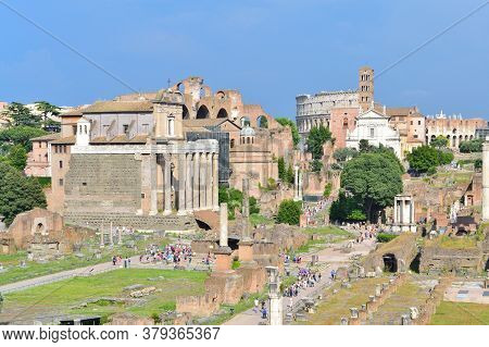 Italy. Old Town Of Rome In A Sunny Summer Day