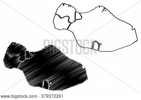 Haiphong City (socialist Republic Of Vietnam) Map Vector Illustration, Scribble Sketch City Of Hai P