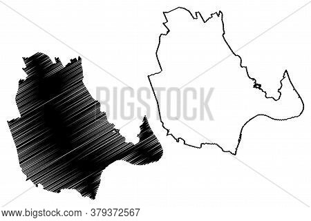 Vinh City (socialist Republic Of Vietnam, Nghe An Province) Map Vector Illustration, Scribble Sketch