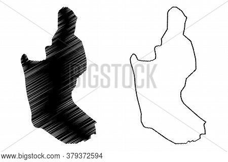 Sanaa City (republic Of Yemen) Map Vector Illustration, Scribble Sketch City Of Sana Map