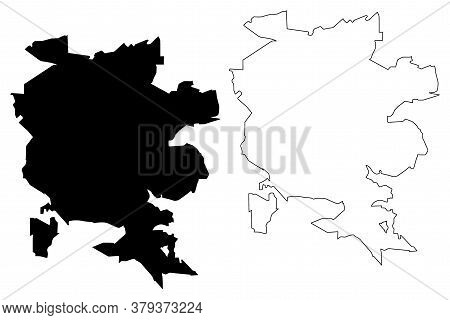 Londrina City (federative Republic Of Brazil, Parana State) Map Vector Illustration, Scribble Sketch