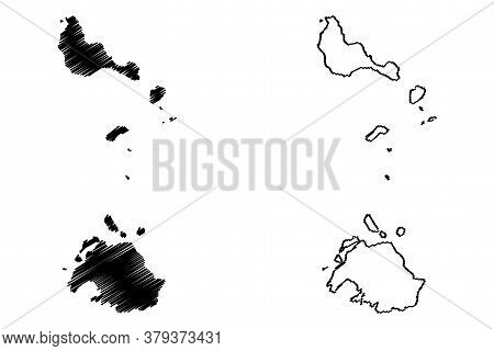 Shefa Province (republic Of Vanuatu, Archipelago) Map Vector Illustration, Scribble Sketch Efate, Sh