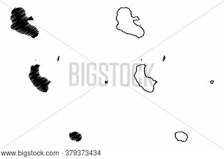 Tafea Province (republic Of Vanuatu, Archipelago) Map Vector Illustration, Scribble Sketch Tanna, An