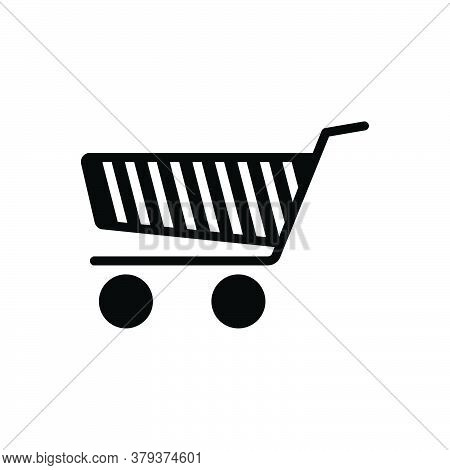 Black Solid Icon For Shopping-cart Shopping Cart Supermarket Basket Buy Store Online Ecommerce Purch
